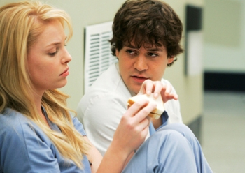 Heigl and her BFF, TR Knight on Grey's Anatomy