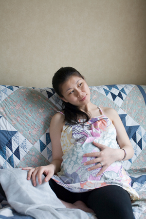 Pregnant Woman at Home