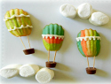Up, up and away! Hot air balloon madeleine cookies