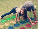 This DIY Lawn Twister Mat Will Make Your Next Outdoor Party Legendary