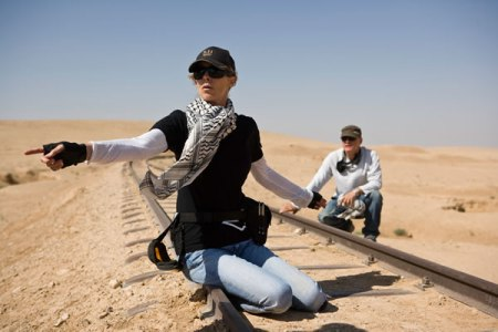 Kathryn Bigelow directing The Hurt Locker