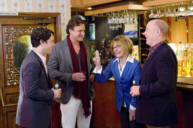 Paul Rudd, Jason Segel, Jane Curtin and JK Simmons in I Love You, Man