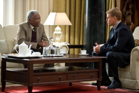 Morgan Freeman and Matt Damon in Clint Eastwood's Invictus