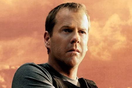 Kiefer Sutherland in 24 as Jack Bauer