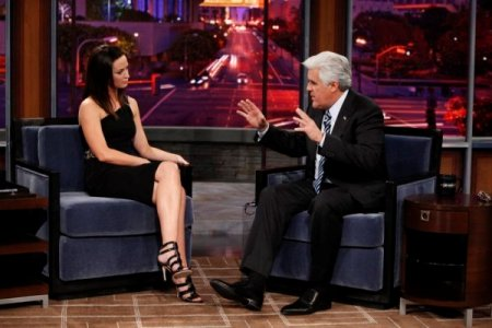 Jay Leno and January 18 guest Emily Blunt