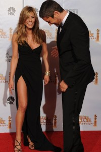 Aniston shows too much?