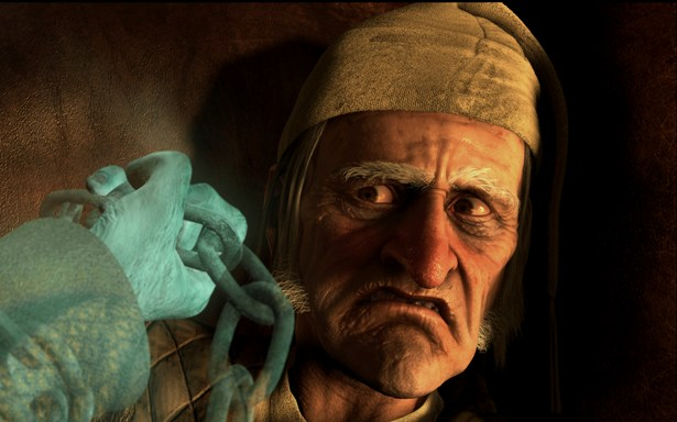 Jim Carrey is Scrooge in A Christmas Carol