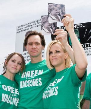 Jane and Jim Carrey with Jenny McCarthy speak out on autism