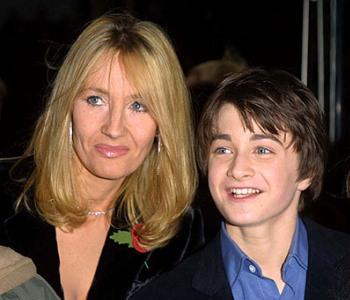 JK Rowling and her boy wizard, Daniel Radcliffe
