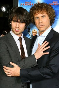 Heder and Will Ferrell at the Blades of Glory premiere