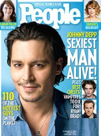 Johnny Depp, People Magazine's Sexiest Man Alive
