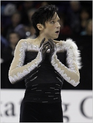 No fur for Johnny Weir