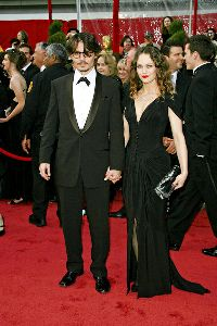 Johnny Depp and his wife Vanessa Paradis