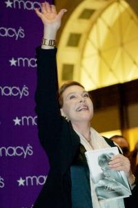 Julie Andrews signs copies of her book