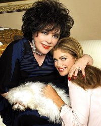 Kathy Ireland and Liz Taylor