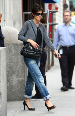 Katie Holmes boyfriend jeans