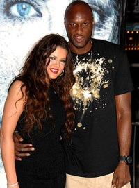 Lamar Odom and Khloe Kardashian at the Whiteout premiere