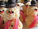 Kids in the kitchen: 12 Easy edible snowman crafts