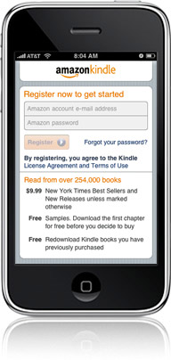 Kindle on iPhone/iPod touch