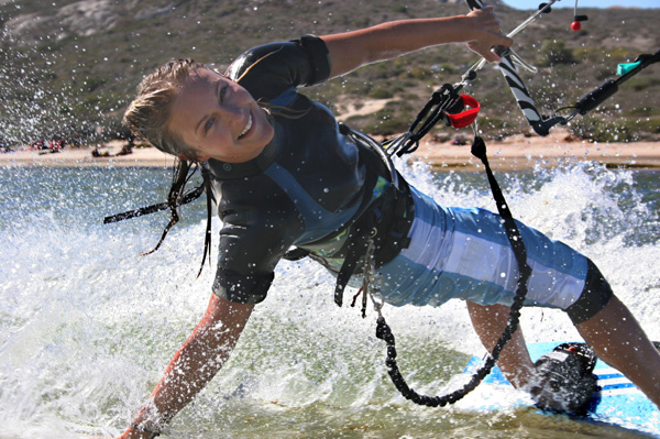 Kiteboarding Woman
