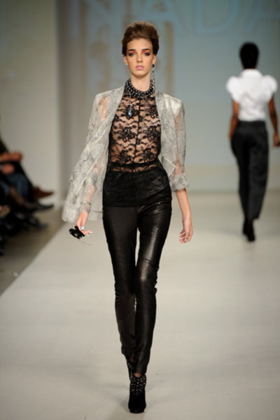 Lace and leggings Toronto Fashion Week