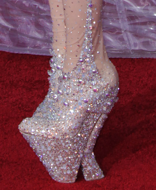 Lady Gaga's shoes at the 2010 Grammys