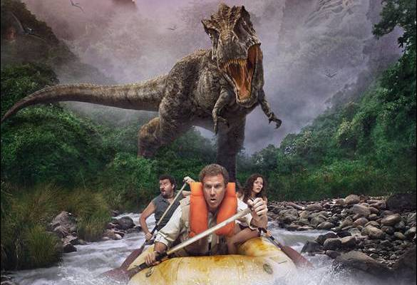 Will Ferrell paddles for his life in Land of the Lost