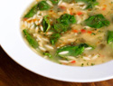 Tonight's Dinner: Lemony chicken soup with orzo and baby spinach recipe