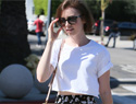 Lily Collins made a crop top look classy, and we're obsessed