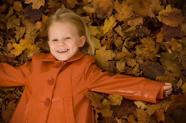 Little Girl in Fall Jacket