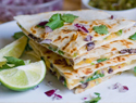 Fully loaded veggie quesadillas with roasted hatch chiles