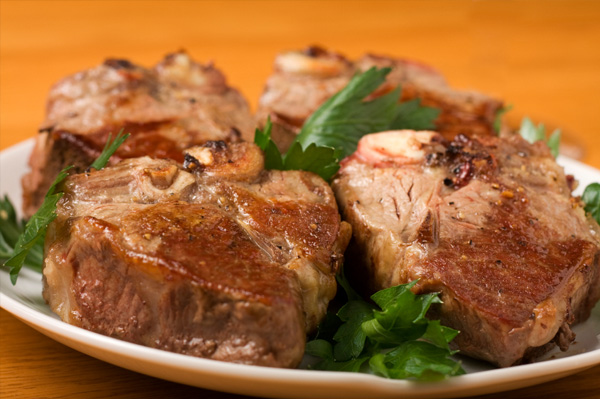 Low carb lamb chop