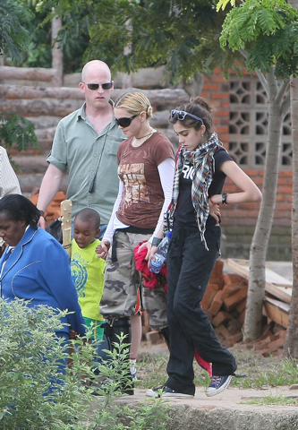 Madonna in Malawi this week
