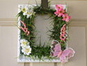 Make a picture frame wreath for spring
