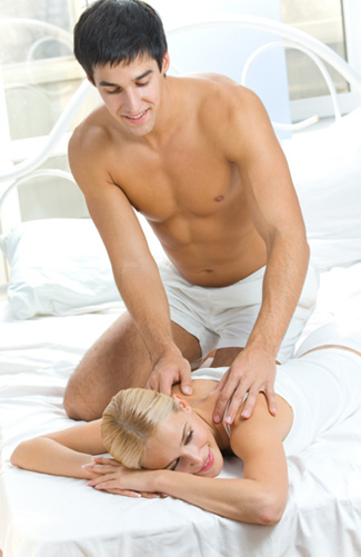 Man Giving Woman Massage