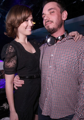 Mandy Moore and DJ AM