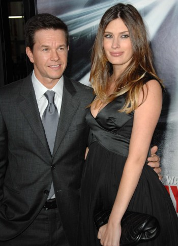 Mark Wahlberg and his new bride Rhea Durham at the Max Payne premiere