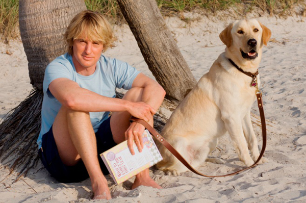 Owen and his dog, Marley & Me