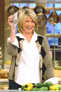 Martha Stewart back on top