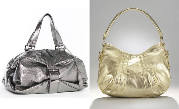 metallic fabric bags