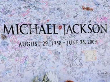The wall outside the Staples Center after Michael Jackson's memorial service
