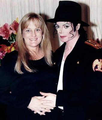 Debbie Rowe and Michael Jackson in happier days