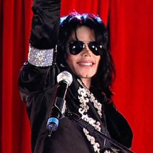 Michael Jackson at the announcement of his This is It tour
