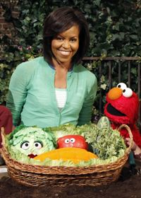 Michelle Obama makes a new friend