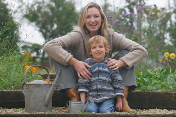 Mom and Child Gardening
