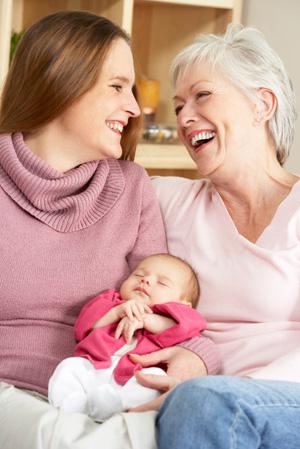 Mom and Grandma and Baby