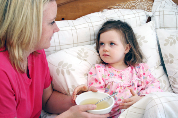 Mom with Chicken soup