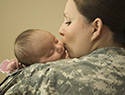 7 Moving photos of military moms breastfeeding in uniform