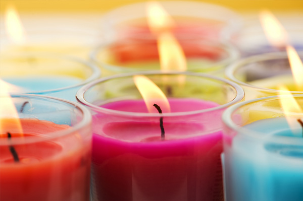 Multi-colored candles