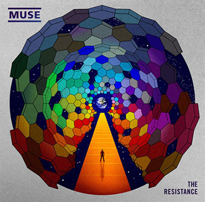 Muse Resistance album cover art on CD